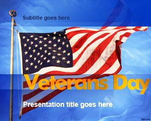 Air force Powerpoint Template or Us Veterans Day Powerpoint Background and Powerpoint