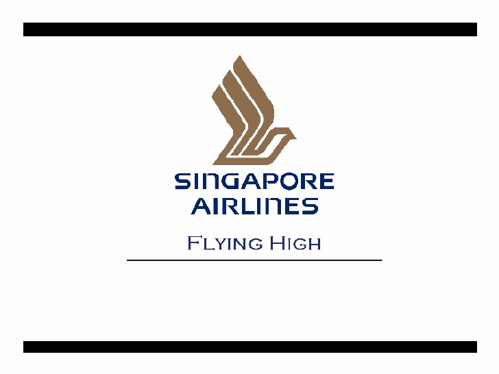 Airline Powerpoint Template or Singapore Airlines Flying High