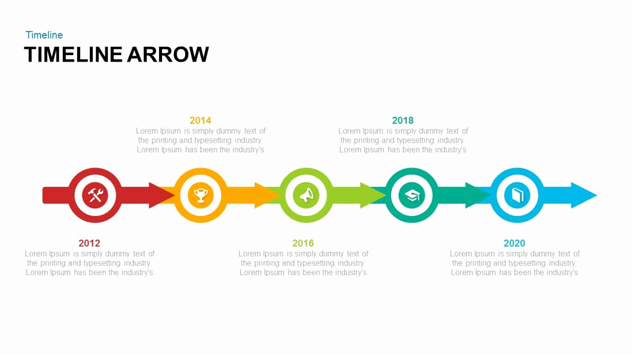 Arrow Powerpoint Template for Timeline Arrow Powerpoint Template and Keynote Slide