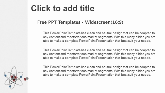 Atom Powerpoint or 3d atom Model Powerpoint Templates