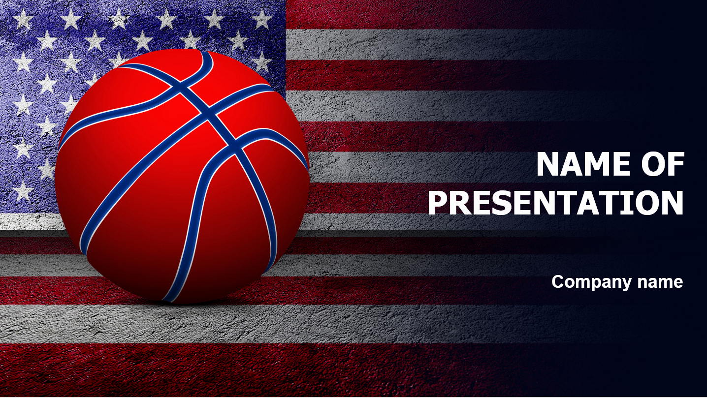 Basketball Powerpoint Template Of Download Free American Basketball Powerpoint Template for
