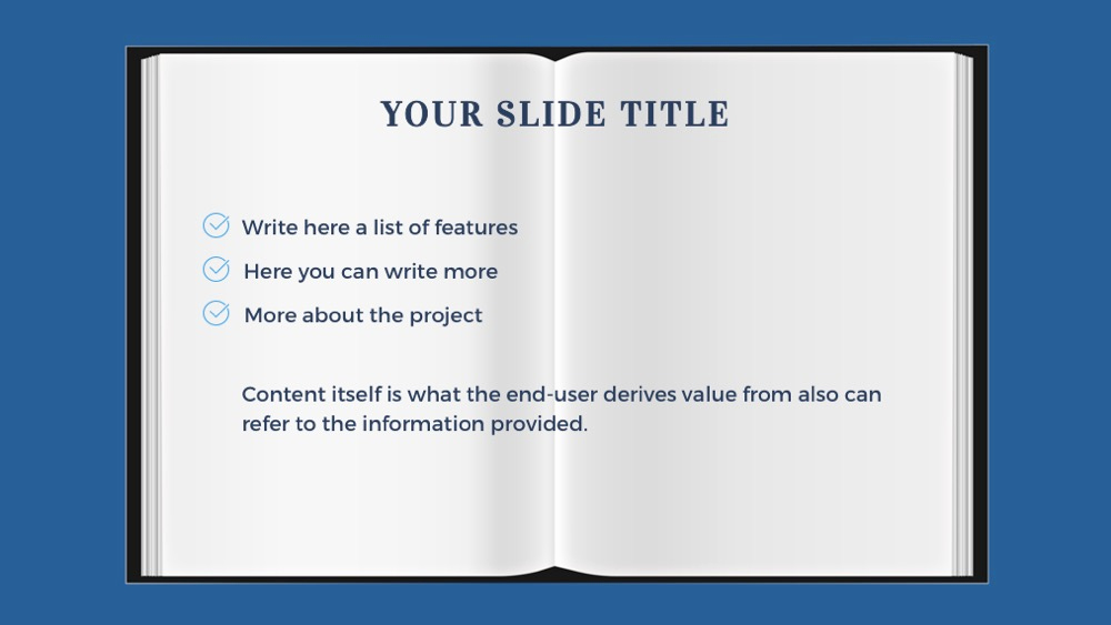 Book Powerpoint Template for Book Powerpoint Template Free Presentation theme