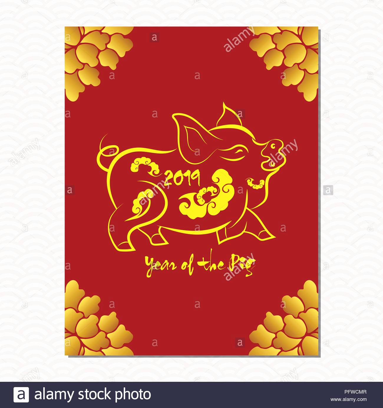 Chinese New Year Template and Chinese New Year Sale Design Template the Year Of Pig