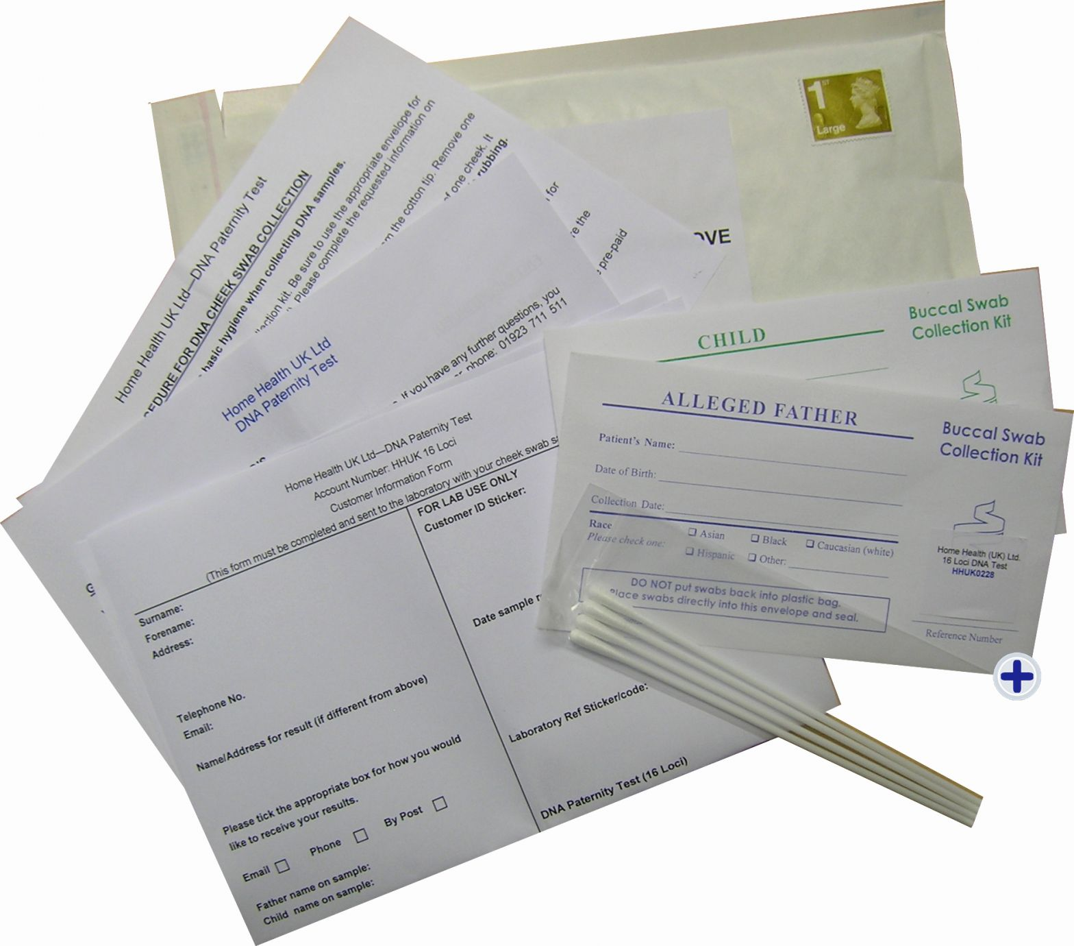 Dna Paternity Of Home Paternity Dna Postal Pack Test