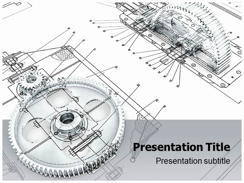 Engineer Powerpoint Template or Mechanical Engineering Technology Ppt