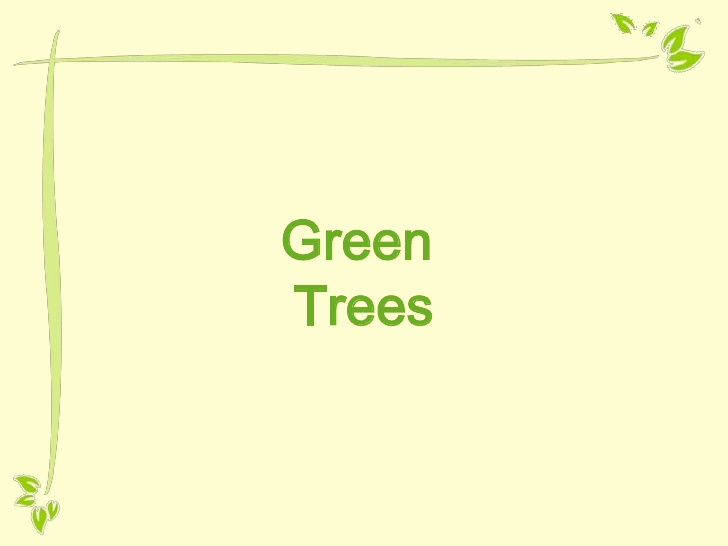 Green Ppt Template then Free Powerpoint Template Green Tree