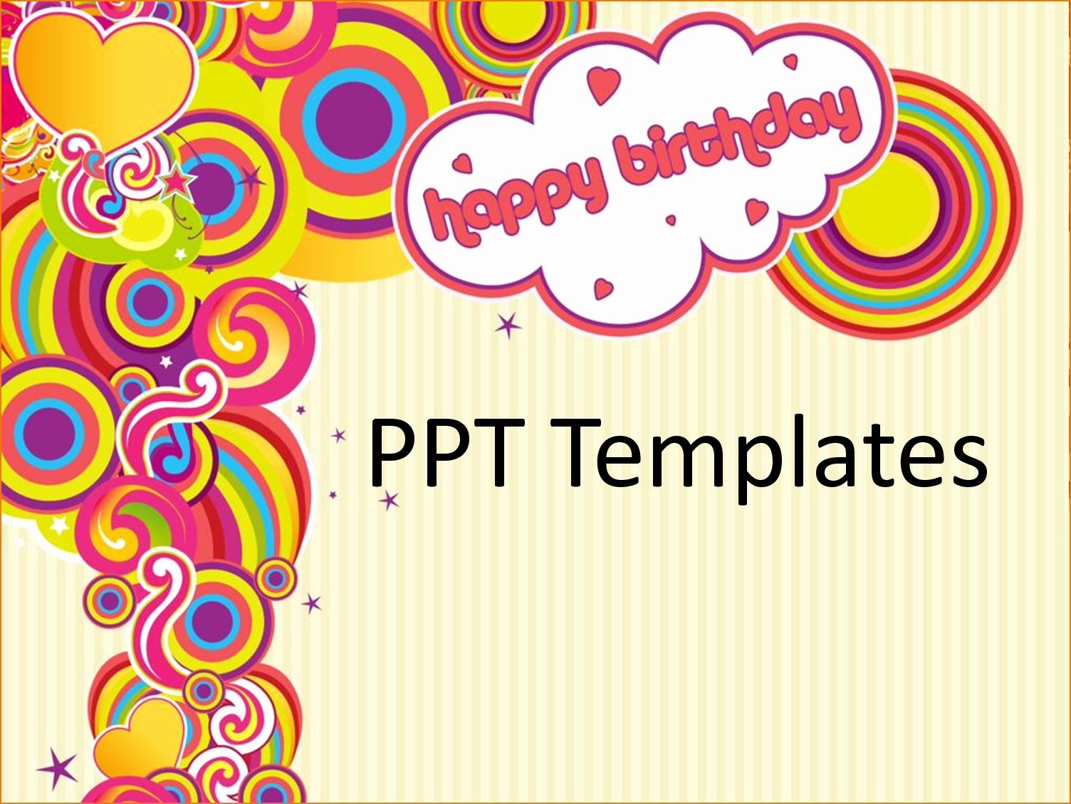 Happy Birthday Powerpoint Template and 4 Birthday Card Template Free