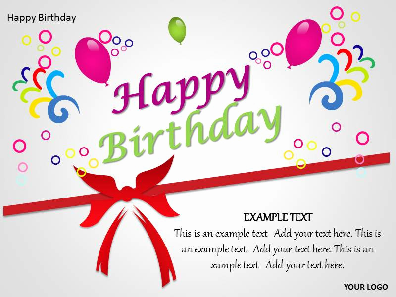 Happy Birthday Powerpoint Template for Happy Birthday Powerpoint Template