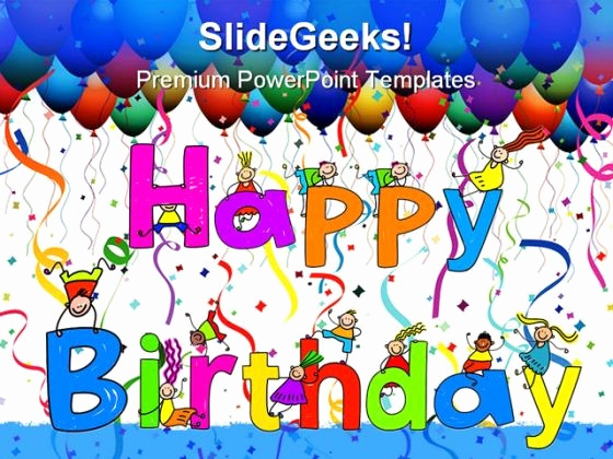 Happy Birthday Powerpoint Template for Happy Birthday Template Powerpoint