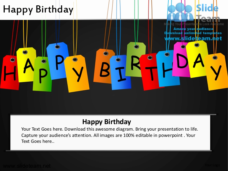 Happy Birthday Powerpoint Template Of Happy Birthday Powerpoint Ppt Slides