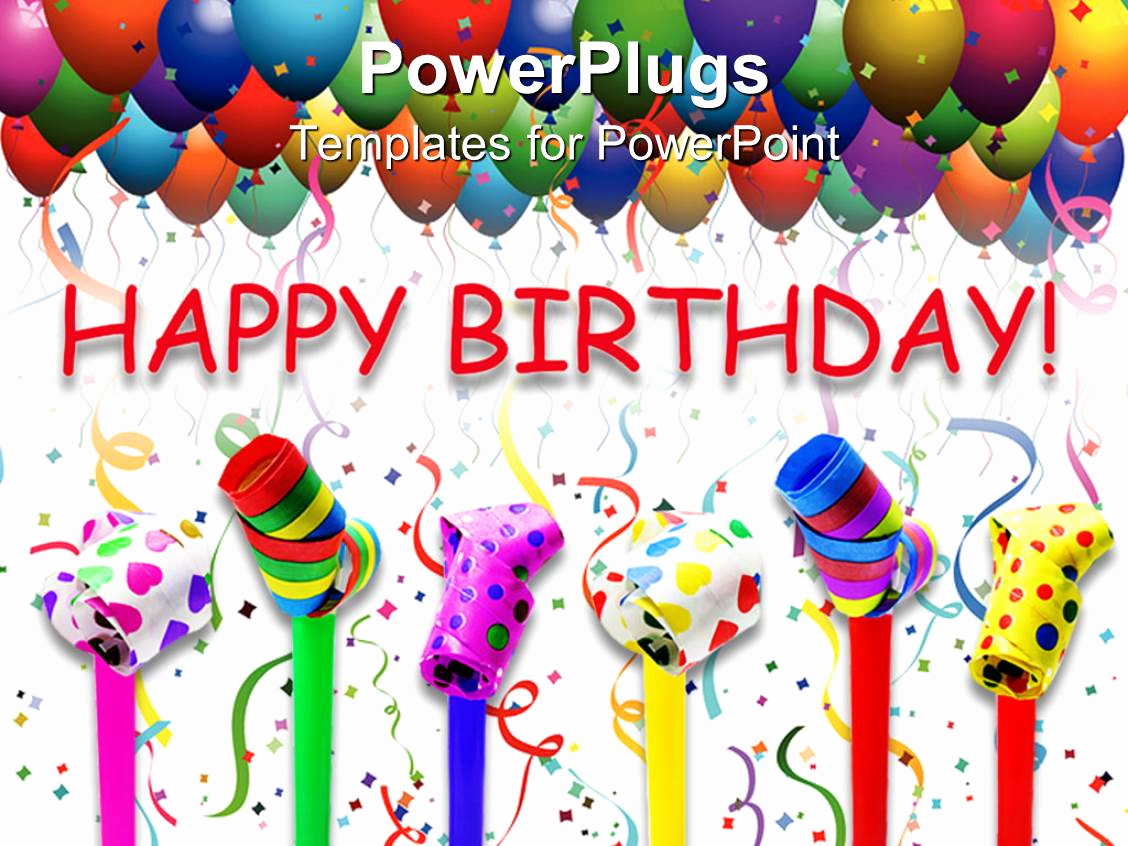 Happy Birthday Powerpoint Template or Powerpoint Template Different Can S with Various Colors