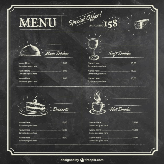 Menu Powerpoint Template and Menu Vectors S and Psd Files