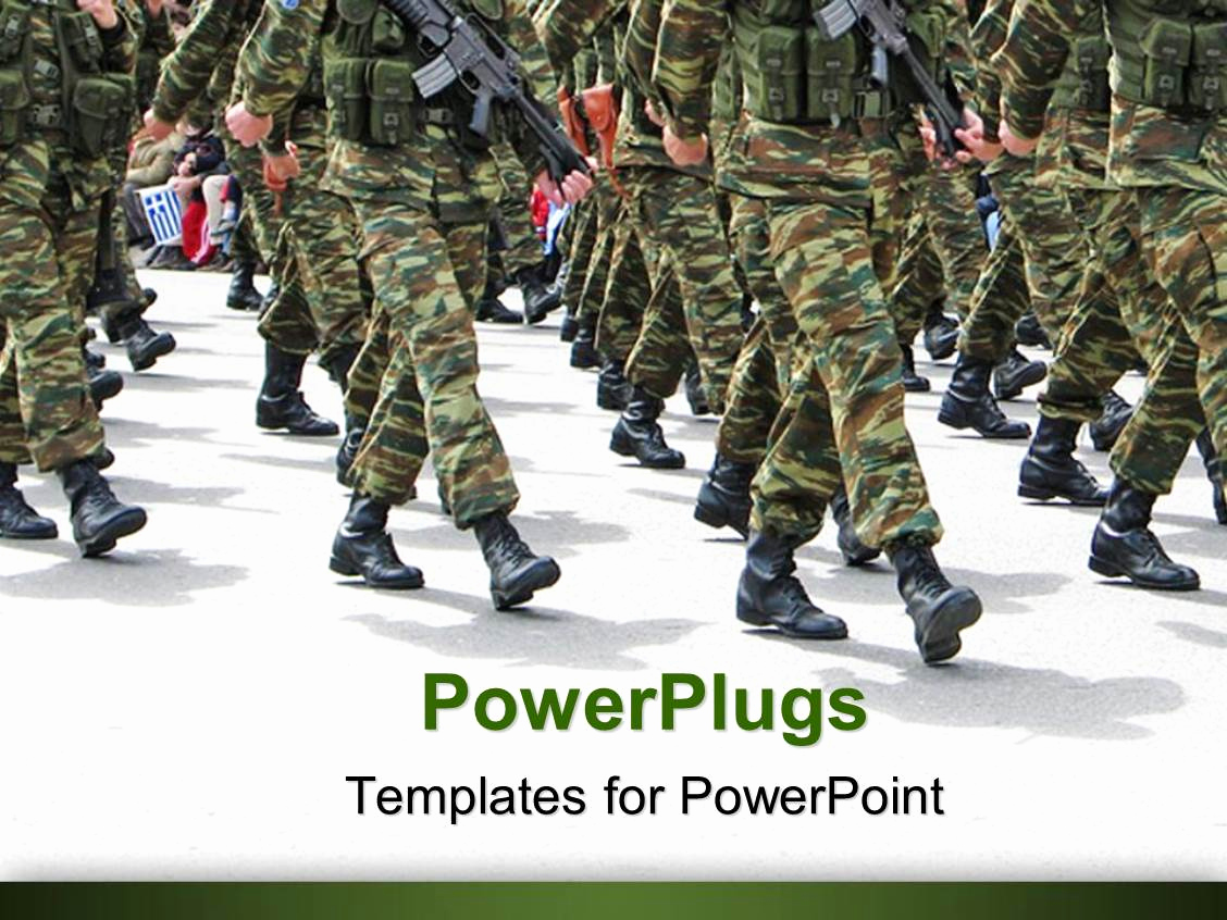 Military Powerpoint Template Of Powerpoint Template Military Parade Background Depicting