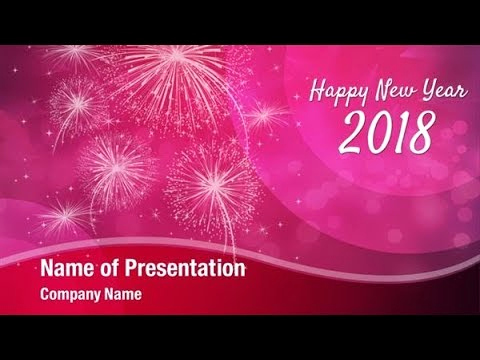 New Year Powerpoint Template for 2018 New Year Celebration Powerpoint Template Backgrounds