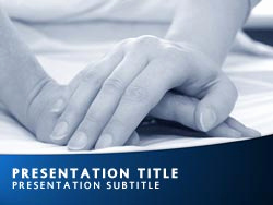 Nursing Powerpoint Template or Royalty Free Carer Powerpoint Template In Blue