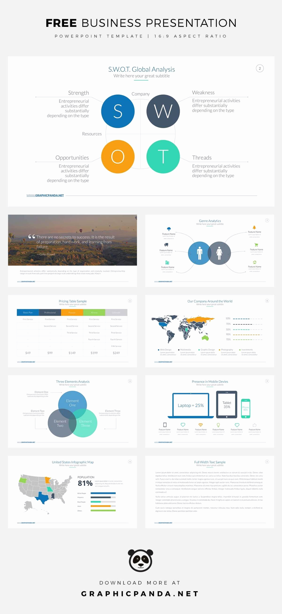 Powerpoint Template Business for Free Business Powerpoint Templates