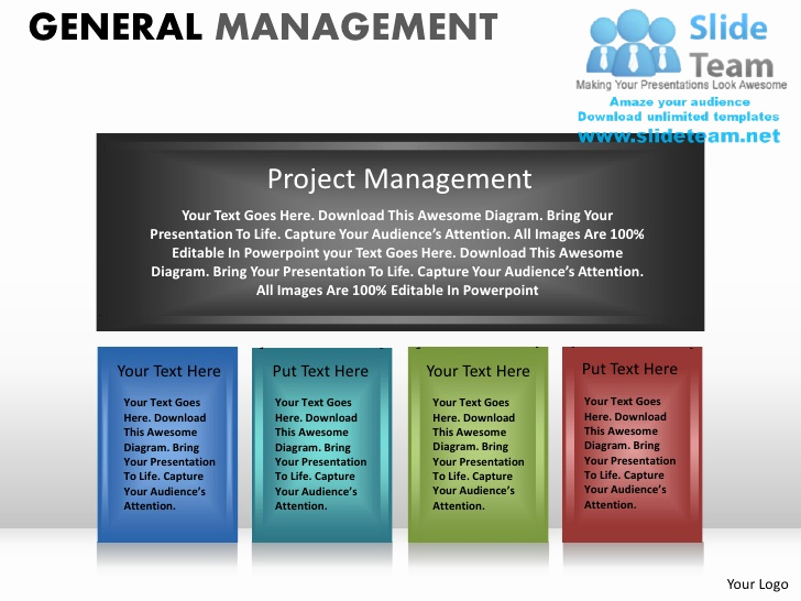 Project Management Powerpoint Template Of General Management Powerpoint Presentation Slides Ppt