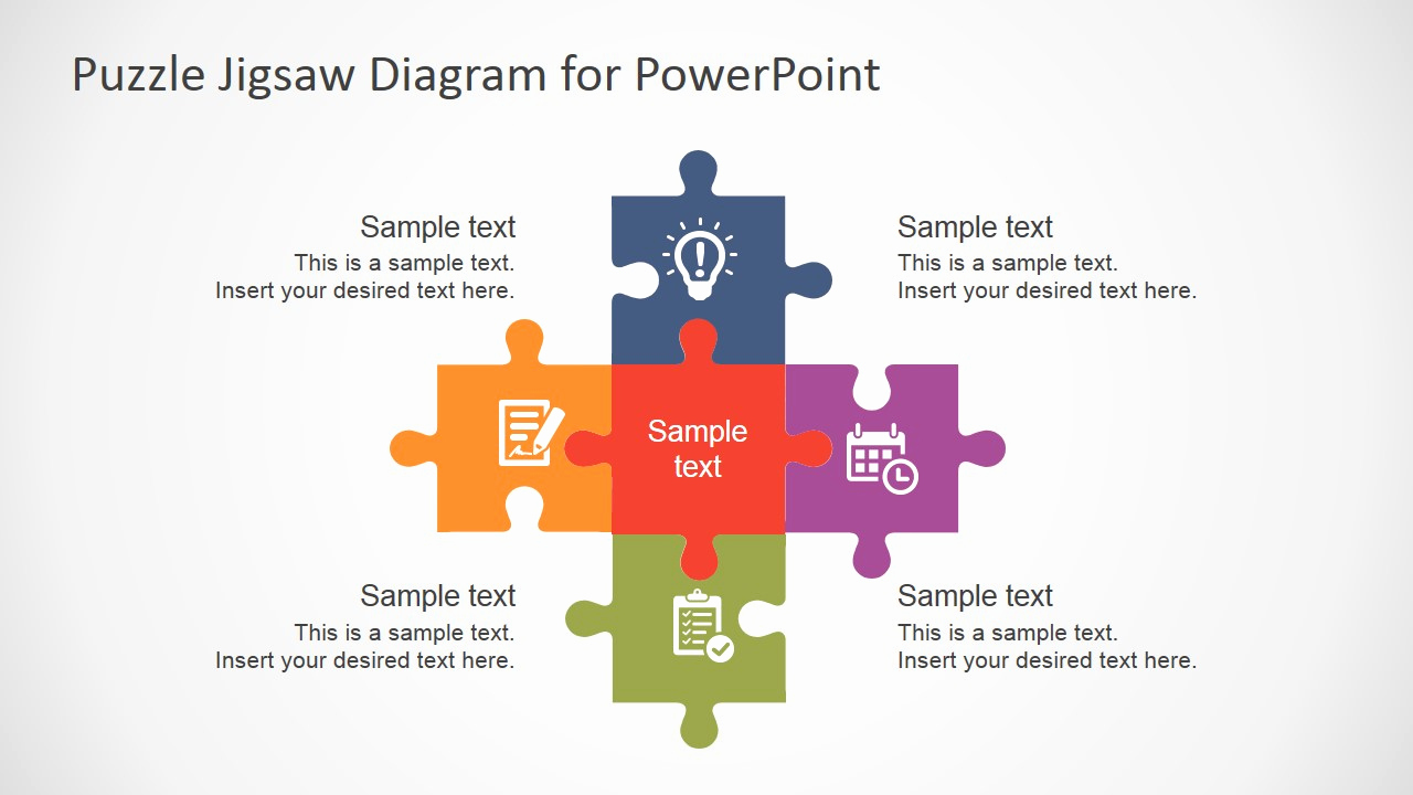 Puzzle Powerpoint Template and Free Flat Puzzle Jigsaw Powerpoint Diagram Slidemodel