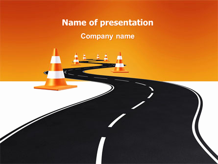 Road Powerpoint Template for Road Work Presentation Template for Powerpoint and Keynote
