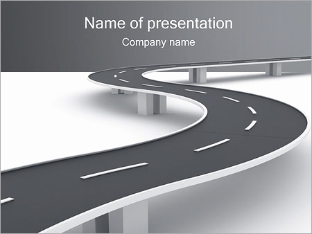 Road Powerpoint Template Of Winding Road Powerpoint Template & Backgrounds Id