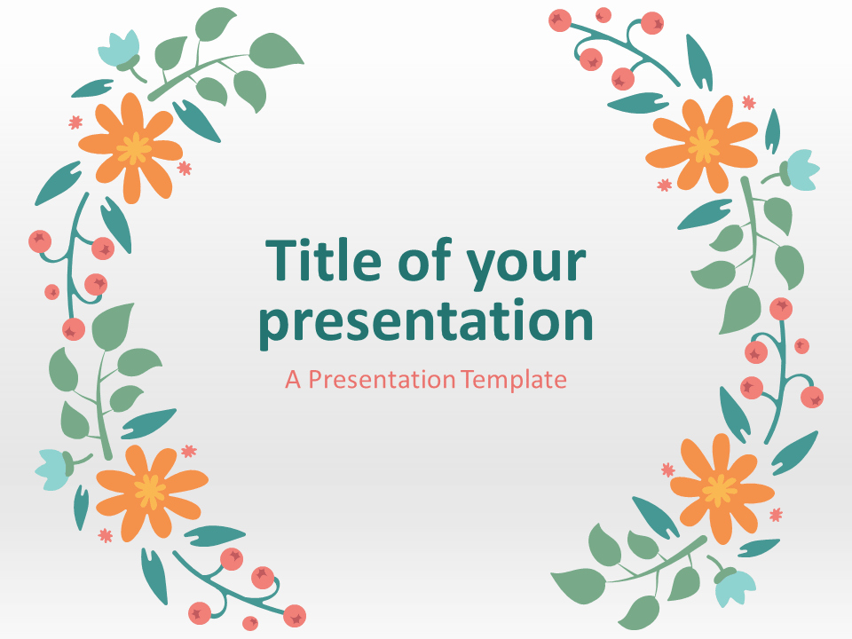 Spring Powerpoint and Spring Template for Powerpoint and Google Slides