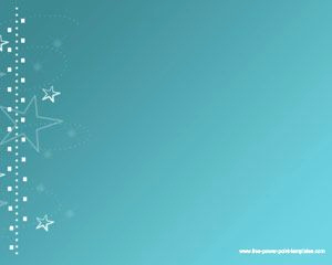 Stars Background for Powerpoint and Sky Blue Stars Powerpoint Template