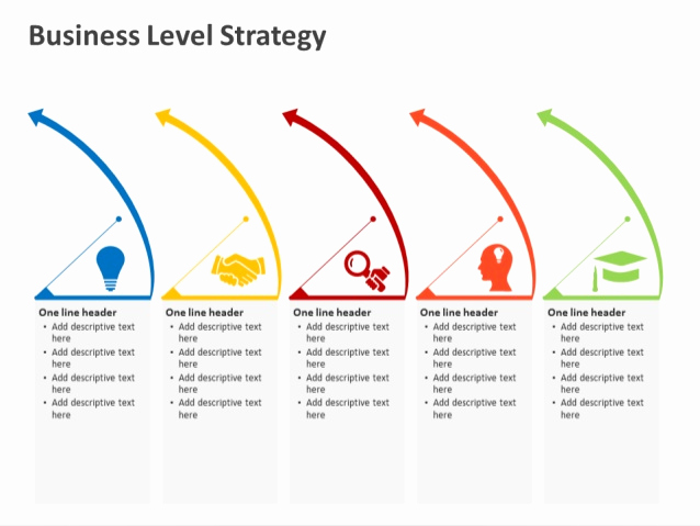 Strategy Powerpoint Template and Business Level Strategy Powerpoint Template