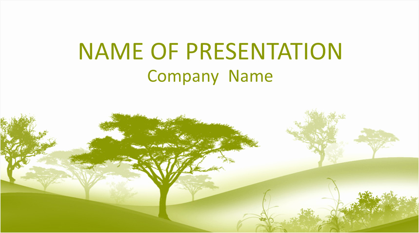 Tree Powerpoint Template for Trees Powerpoint Template Templateswise