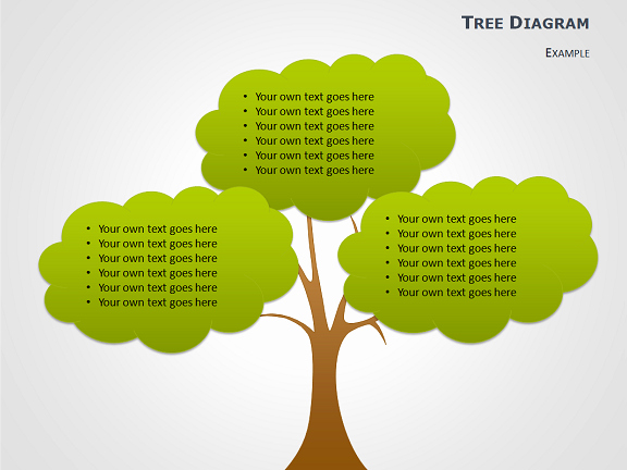 Trees Powerpoint Template Of Cause and Effect Tree Diagrams for Powerpoint