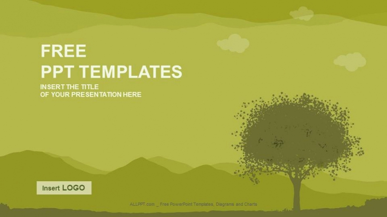 Trees Powerpoint Template Of Silhouette Tree Nature Ppt Templates Download Free