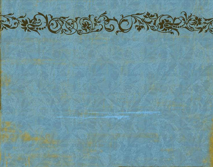Vintage Powerpoint Template for Blue Floral Vintage Decoration Powerpoint Background