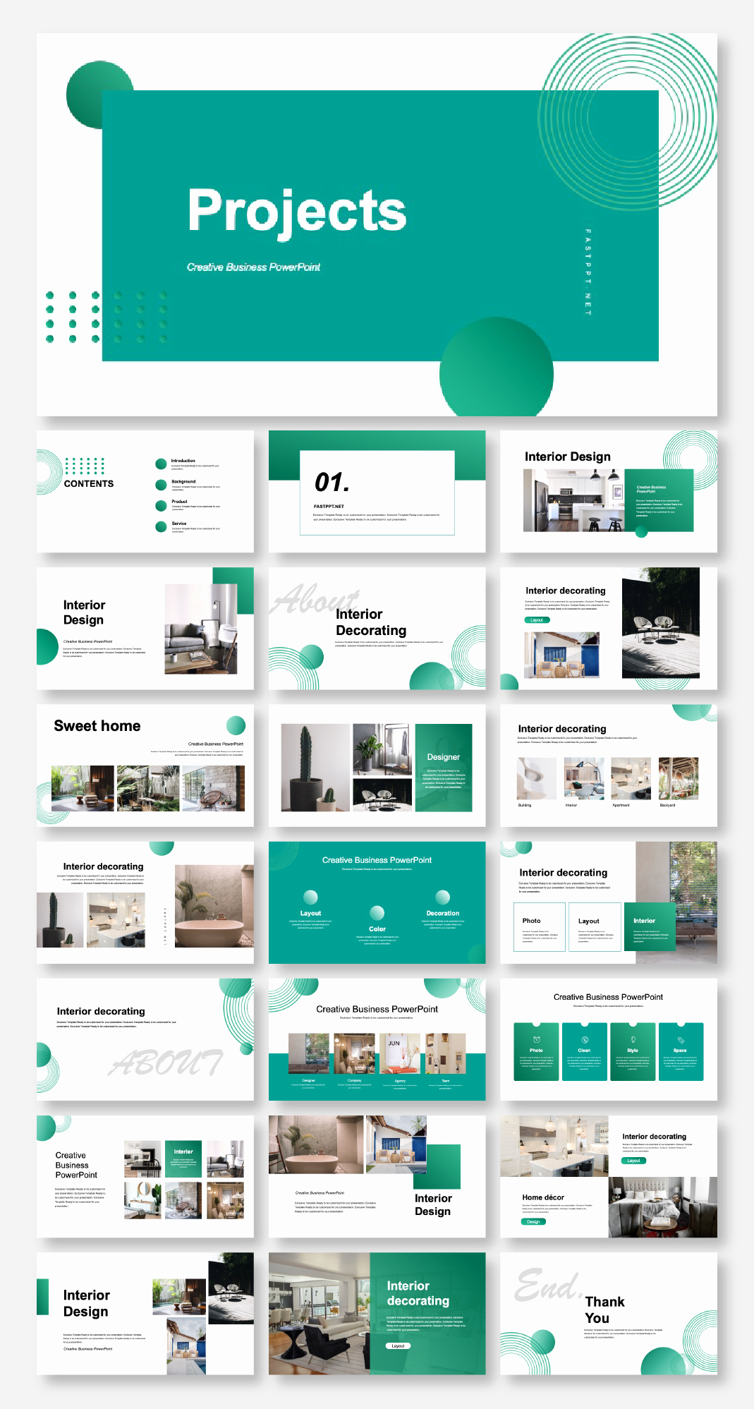 Design Powerpoint Template and Blue Business Project Report Presentation Template