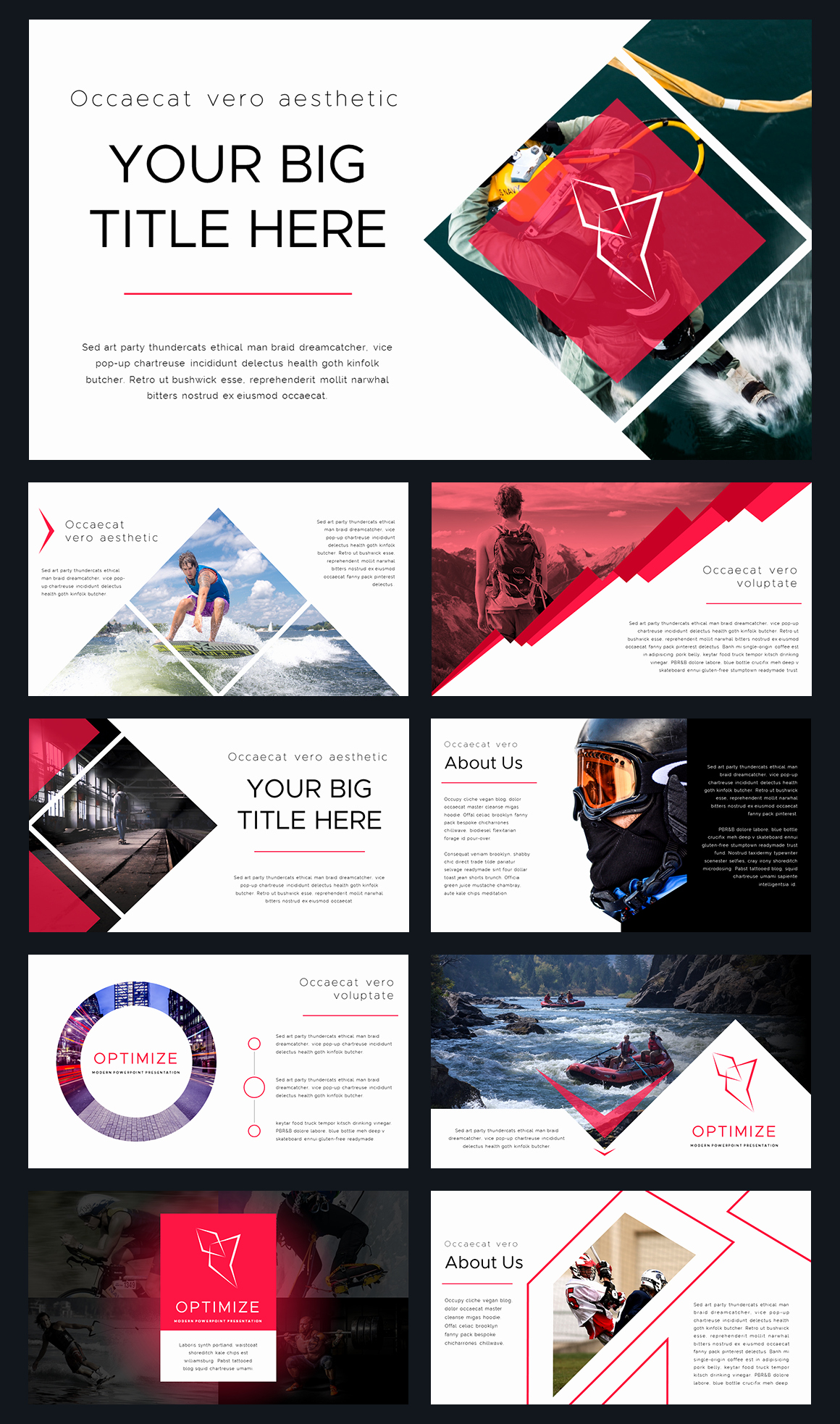 Design Powerpoint Template for Optimize Modern Powerpoint Template by Thrivisualy On
