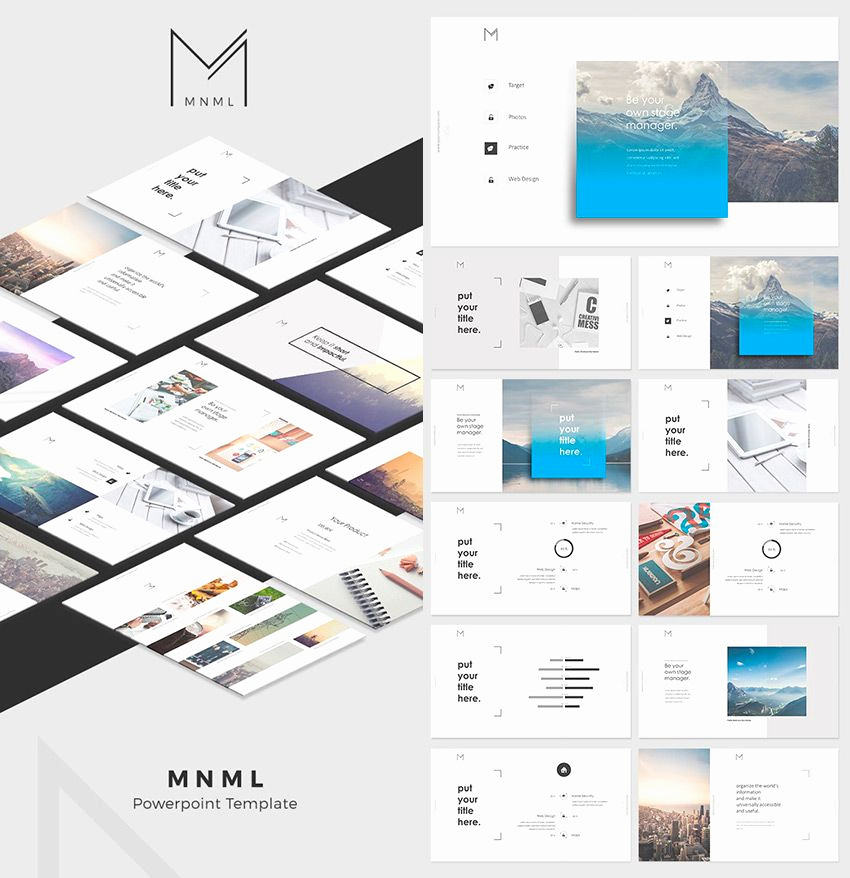 Design Powerpoint Template Of Mnml Cool Powerpoint Template Designs 850×878