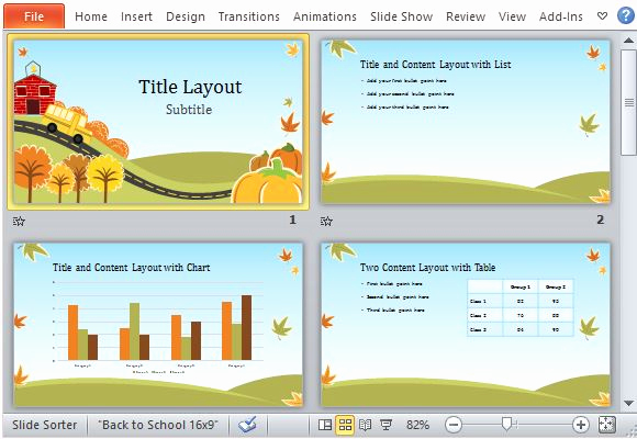 Fun Powerpoint Template for Fall Fun Powerpoint Template