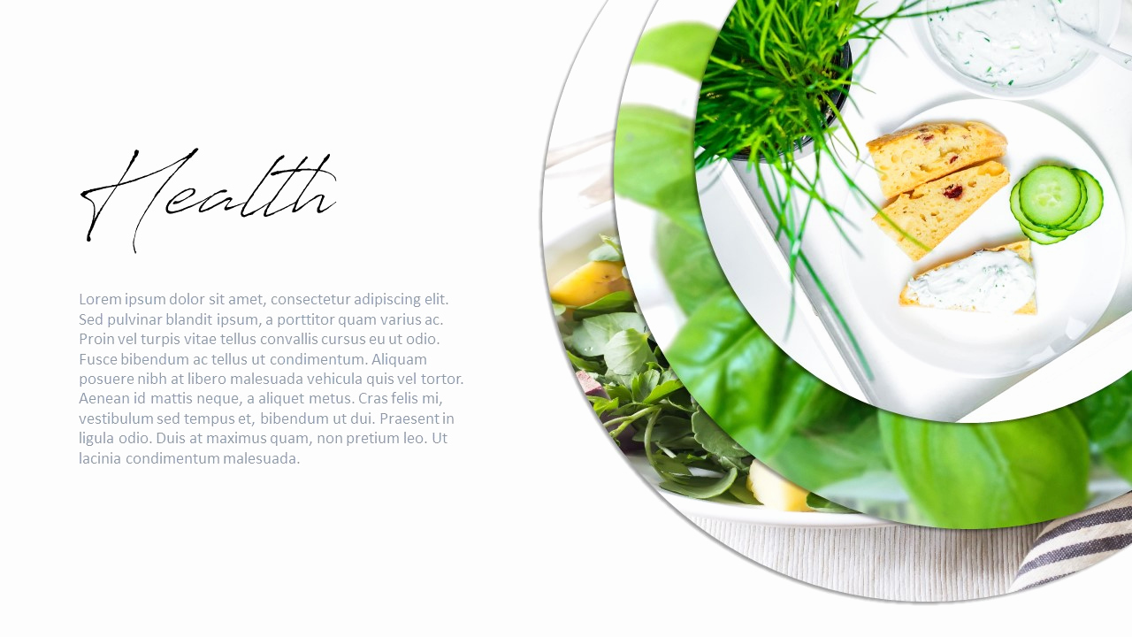 Healthy Food Powerpoint for Free Health Food Powerpoint for F&b Business Use