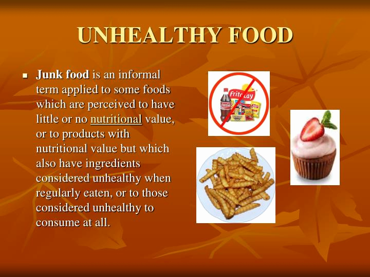 Healthy Food Powerpoint Of Ppt Healthy and Unhealthy Food Powerpoint Presentation