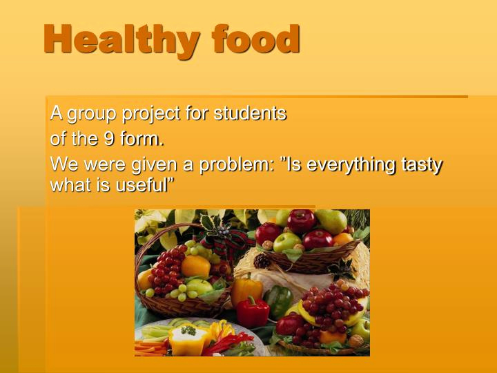 Healthy Food Powerpoint or Ppt Healthy Food Powerpoint Presentation Free