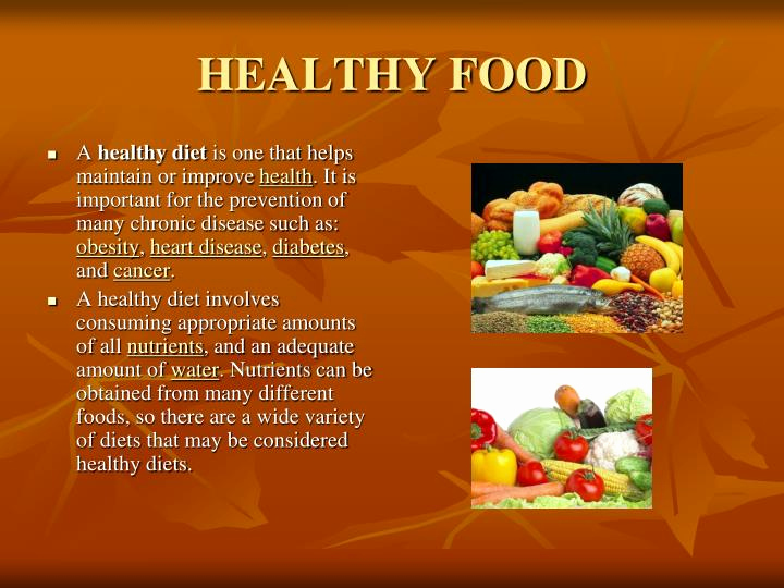 Healthy Food Powerpoint then Ppt Healthy and Unhealthy Food Powerpoint Presentation