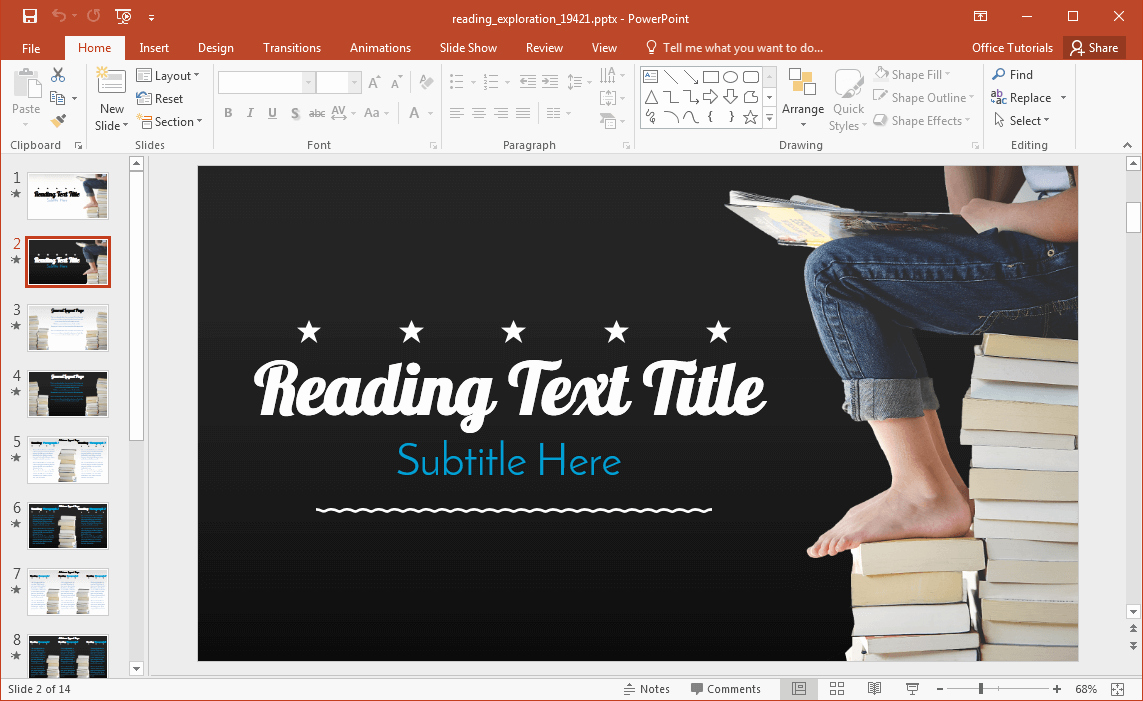 Reading Powerpoint Template for Animated Reading Powerpoint Template