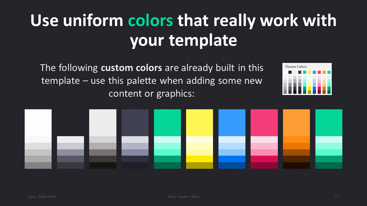 Color Powerpoint Template for Dark Pro Modern Powerpoint Template