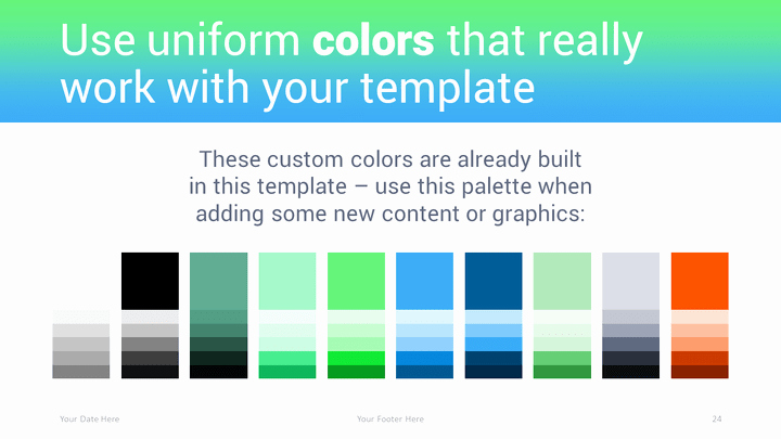 Color Powerpoint Template then Transitions Modern Powerpoint Template