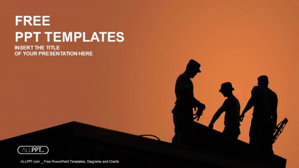 Construction Powerpoint Templates Of Blog Elements