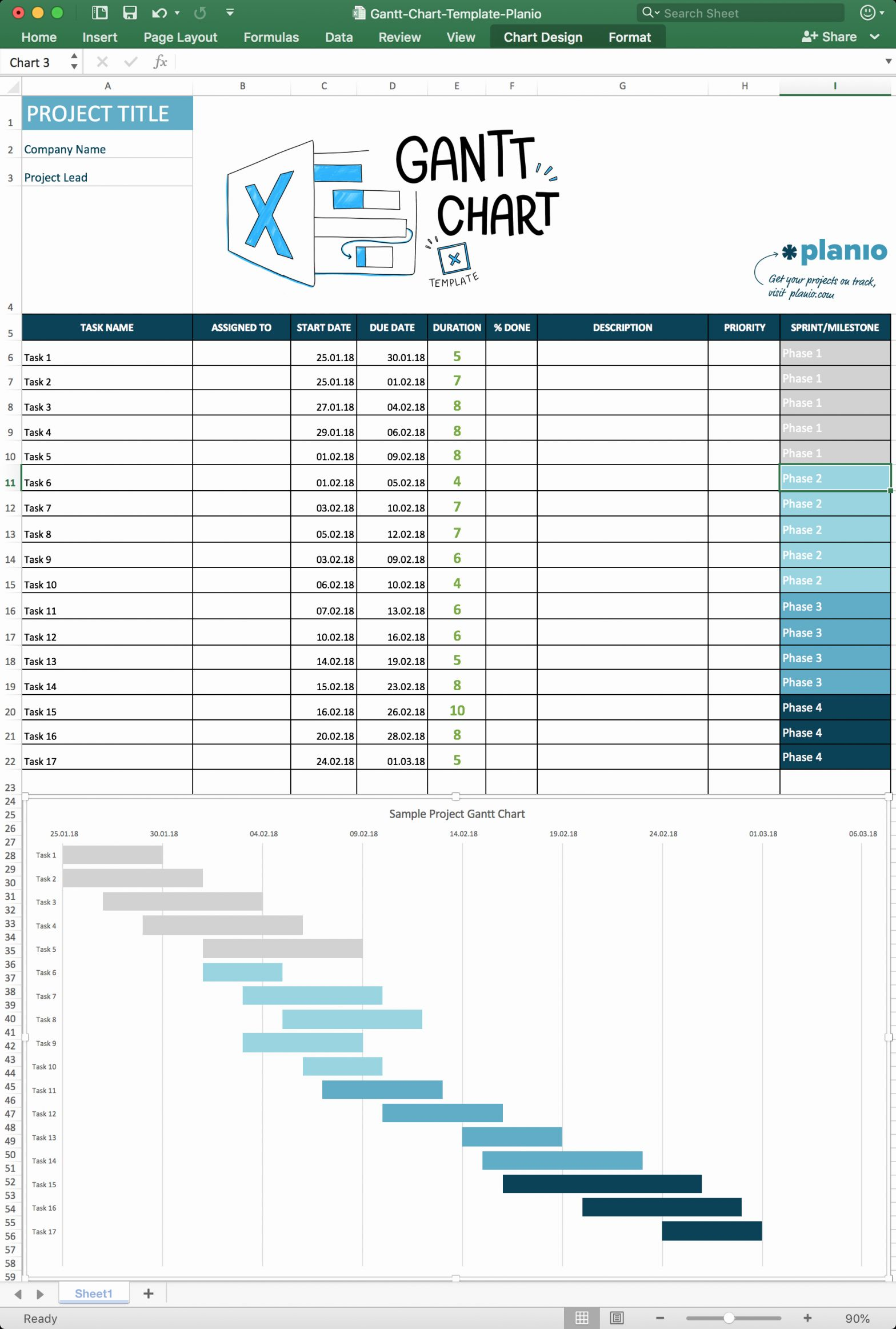 Gantt Chart Project Template Of How to Create A Gantt Chart In Excel Free Template and