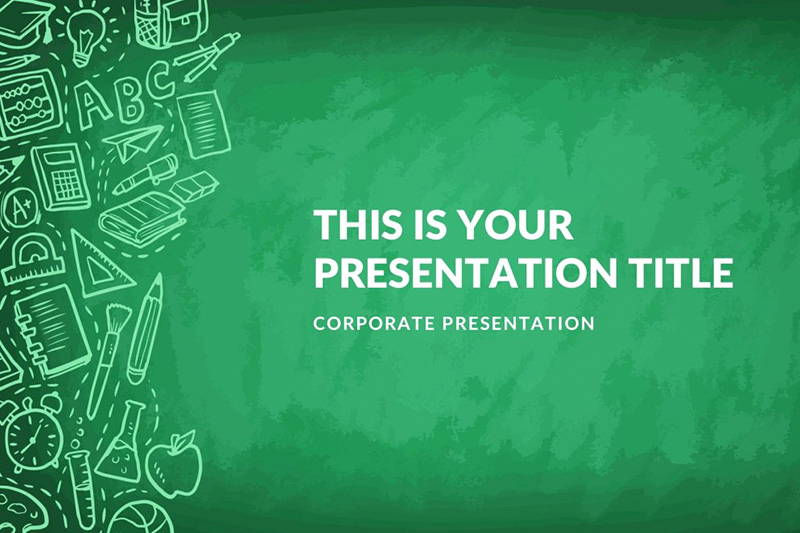 Green theme Powerpoint for Greenboard Free Powerpoint Template
