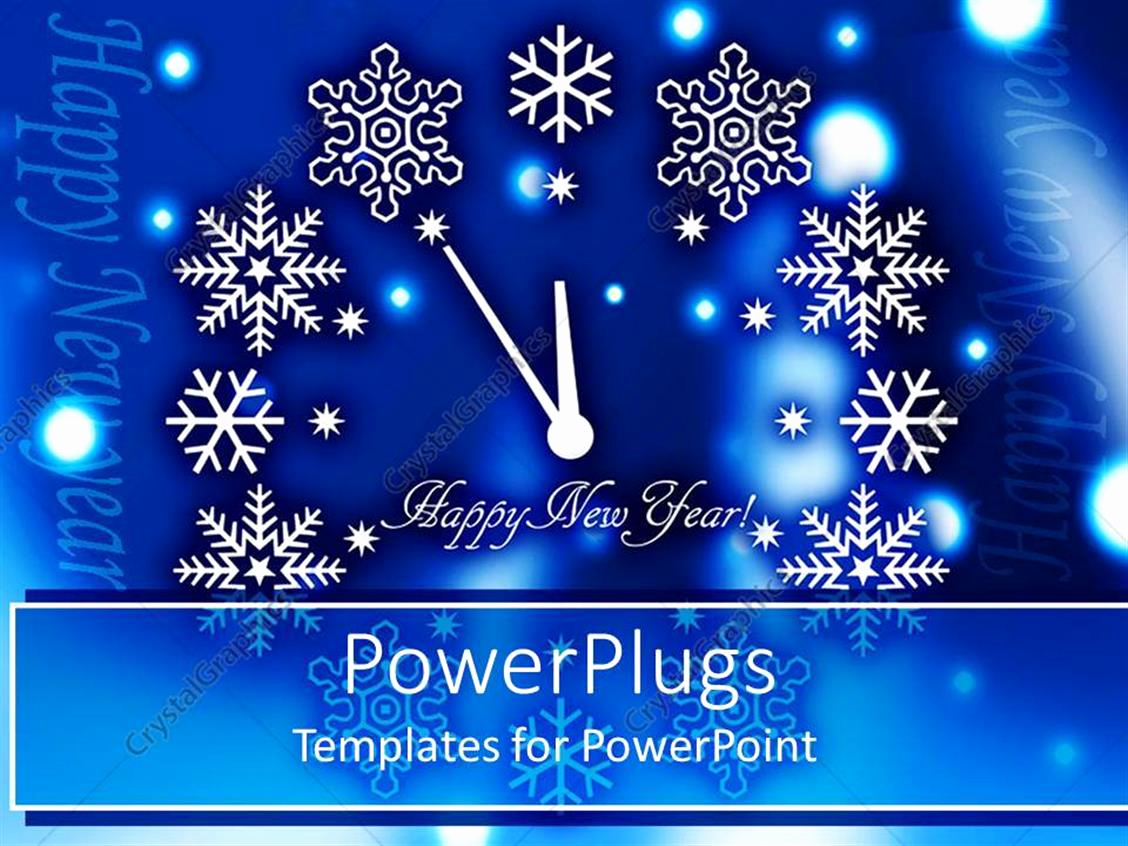 Happy New Year Template Of Powerpoint Template Happy New Year Clock with Various