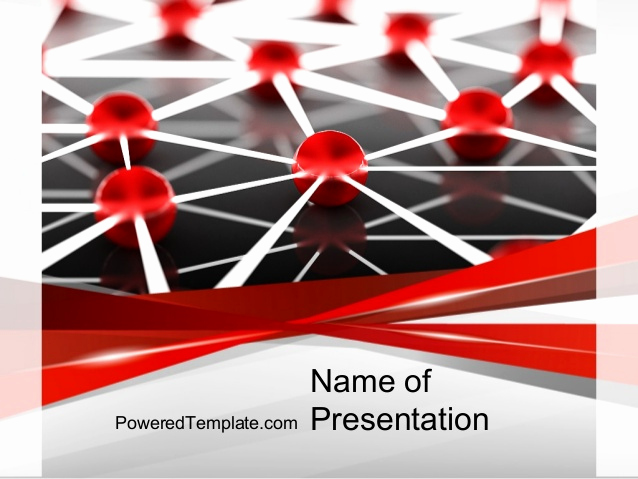 It Powerpoint Template Of Network Infrastructure Powerpoint Template by