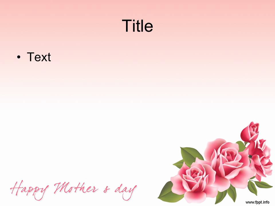 Mothers Day Powerpoint Template for Free Download Mother S Day Powerpoint Templates