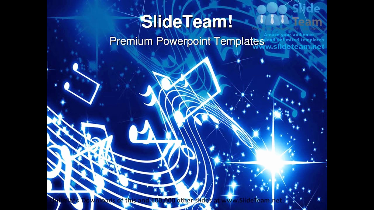 Musical Powerpoint Template or Musical Notes Background Powerpoint Templates themes and