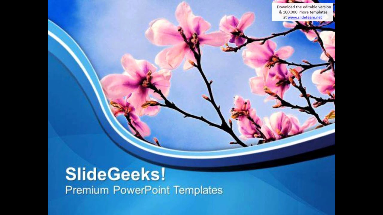 Nature Ppt Template or theme Of Spring Beauty Of Nature Powerpoint Templates Ppt